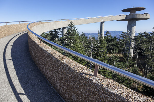 Fun things to do in Asheville NC : Clingmans Dome in Great Smoky Mountains Park.