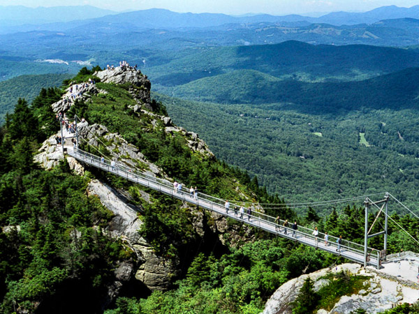 Fun things to do in Asheville NC : Grandfather Mountain in Linville NC.