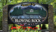 Picture of the Welcome sign at Blowing Rock, NC.