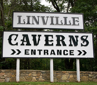 Picture of the sign at Linville Caverns in Linville, NC.