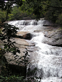 Picture of Waterfall in Graveyard Fields on Blue Ridge Parkway, NC.
