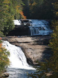 Picture of Triple Falls in Dupont Forest State Park.