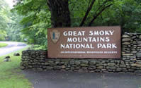 The Great Smoky National Park in TN