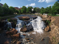 Picture of Falls on Reedy River in Downtown Greenville SC.