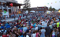 Picture of the crowd of people at the Apple Festival in Hendersonville NC.