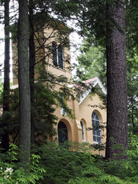 Picture of St John's Wilderness Church in Flat Rock, NC.