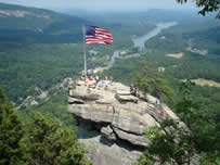 Picture of the Top of Chimney Rock, NC.