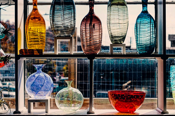 Fun things to do in Asheville NC : Lexington Glassworks in Asheville, NC.