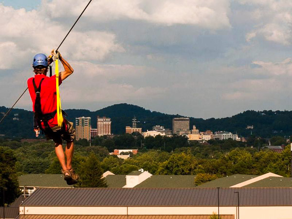 Fun things to do in Asheville NC : Zipline Adventure Park in Asheville NC.