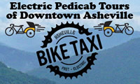 Fun things to do in Asheville NC : Asheville Bike Taxi in Asheville NC.